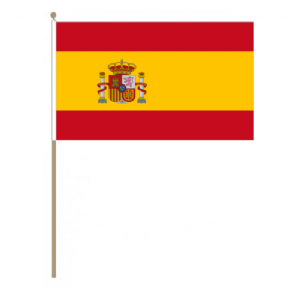 Spain Country Hand Flag, large.